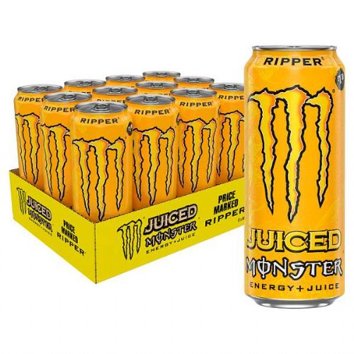 Monster Ripper Energy + Juice 500ml Case 12 Cans (UK)